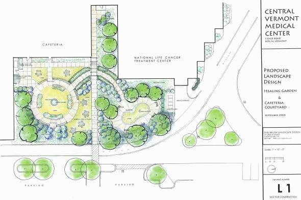 Drawing for Healing Garden and Courtyard for CVMC